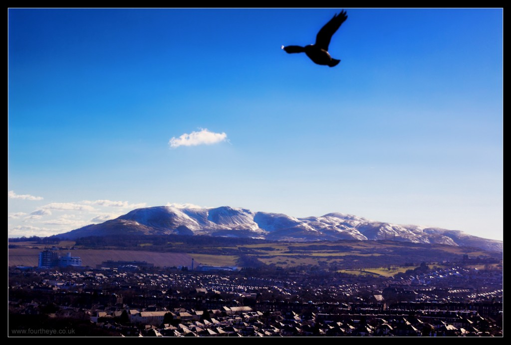 Flight over the Pentlands