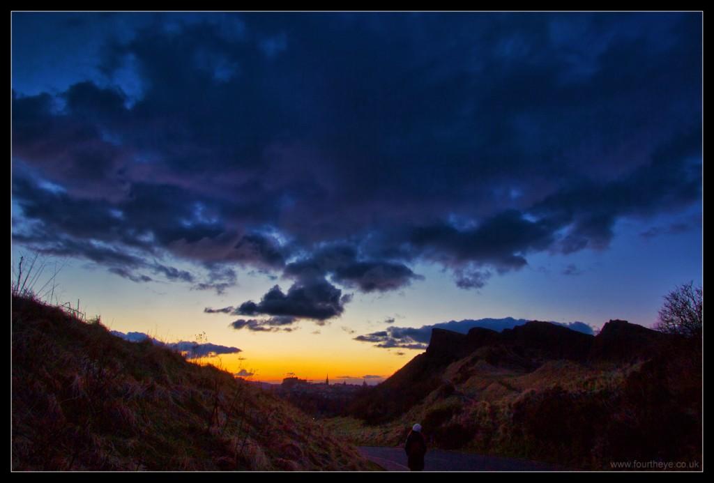 Holyrood sunset